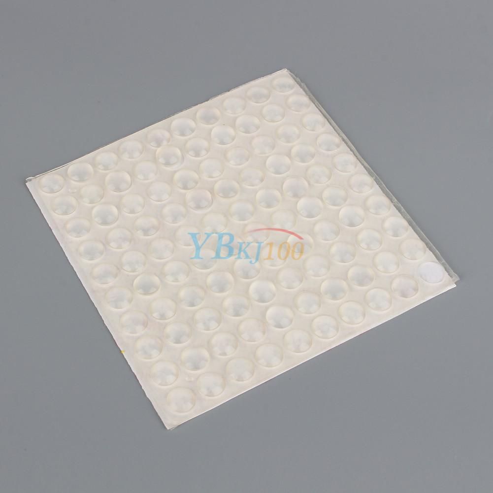 100pcs 8mm 2 5mm Transparent Self Adhesive Round Rubber