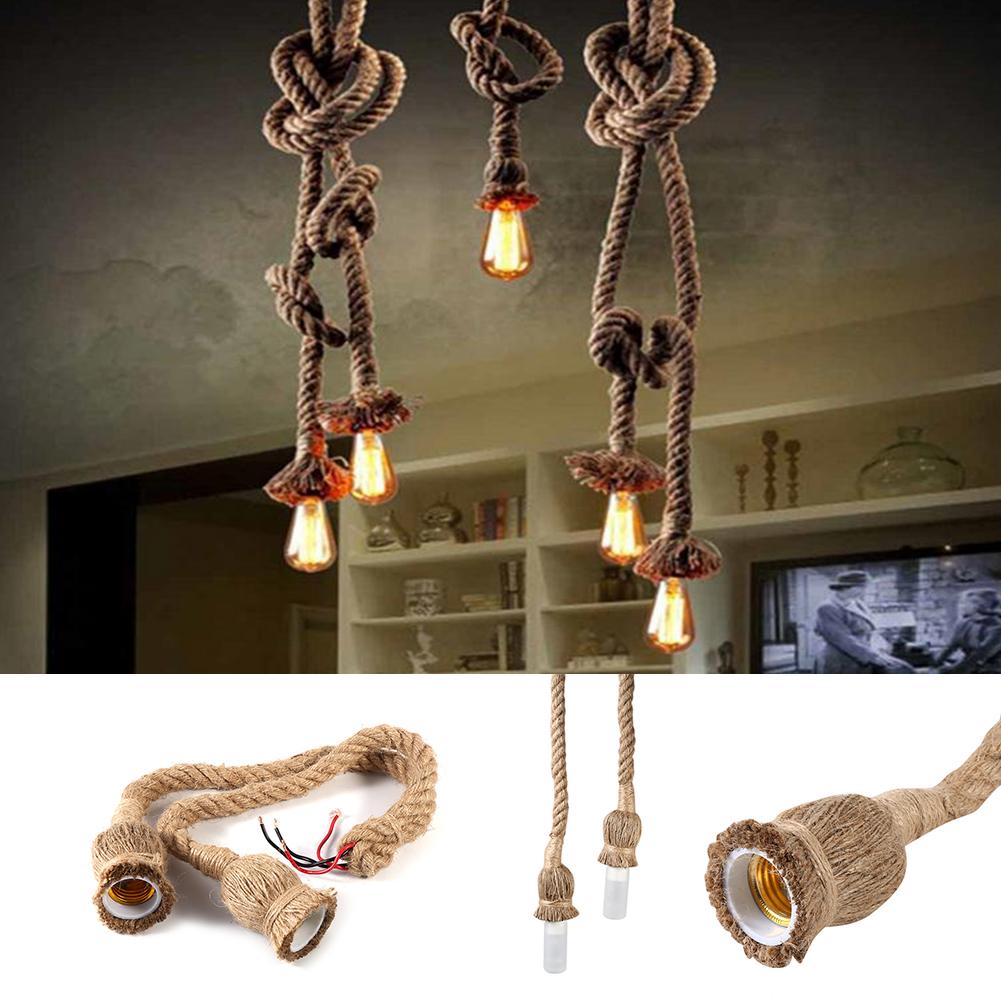 Vintage hemp rope double head vintage hanging pendant ceiling light vintage hemp rope double head vintage hanging pendant ceiling light lamp e27 sg aloadofball Choice Image
