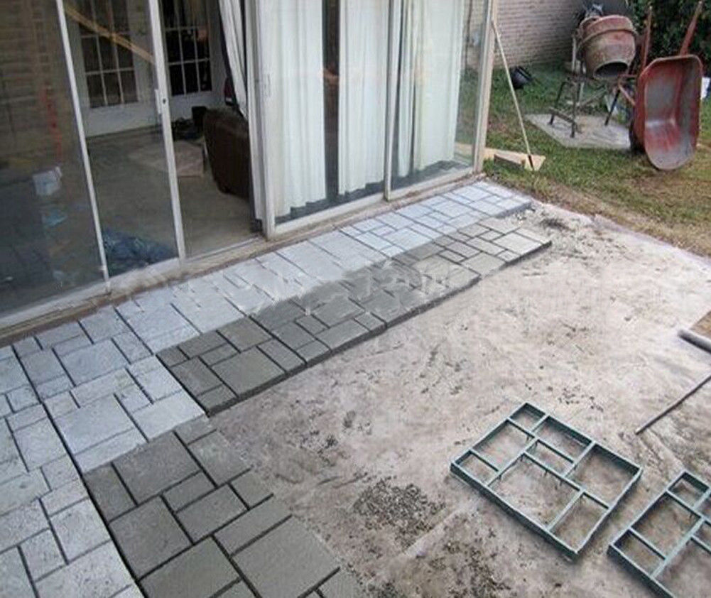 Patio Ideas With Existing Concrete Slab: Driveway Paving Brick Patio Concrete Slabs Path Garden