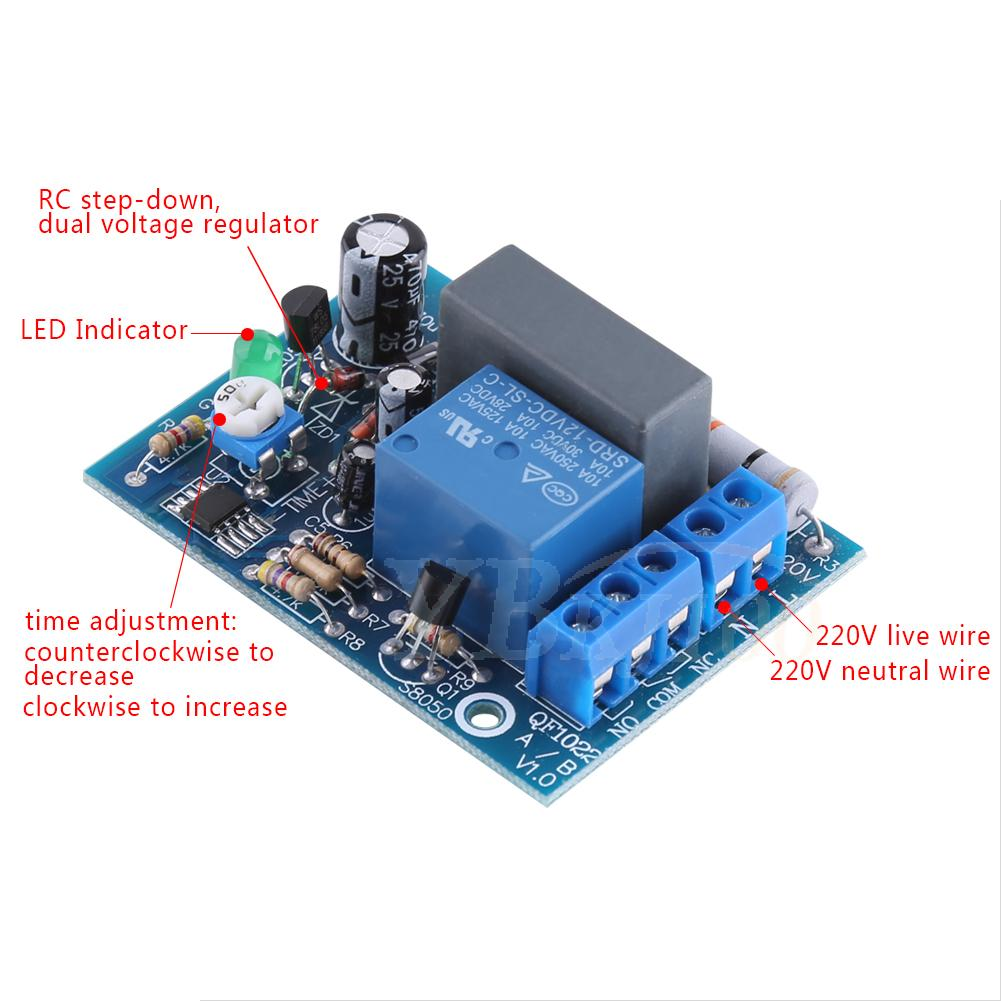 Ac 220v Trigger Delay Switch Turn Off Board Timing Timer