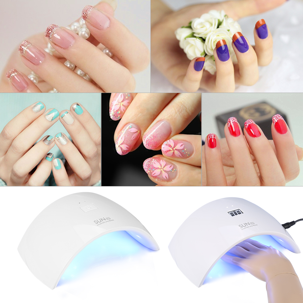 SUNUV SUN9C 24W LED UV Nail Dryer Curing Lamp for Fingernail & Toenail Gels