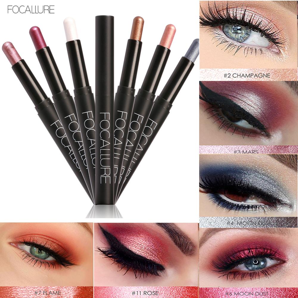 Focallure Waterproof Eyeshadow Pencil Pen Makeup Cream Eye Shadow