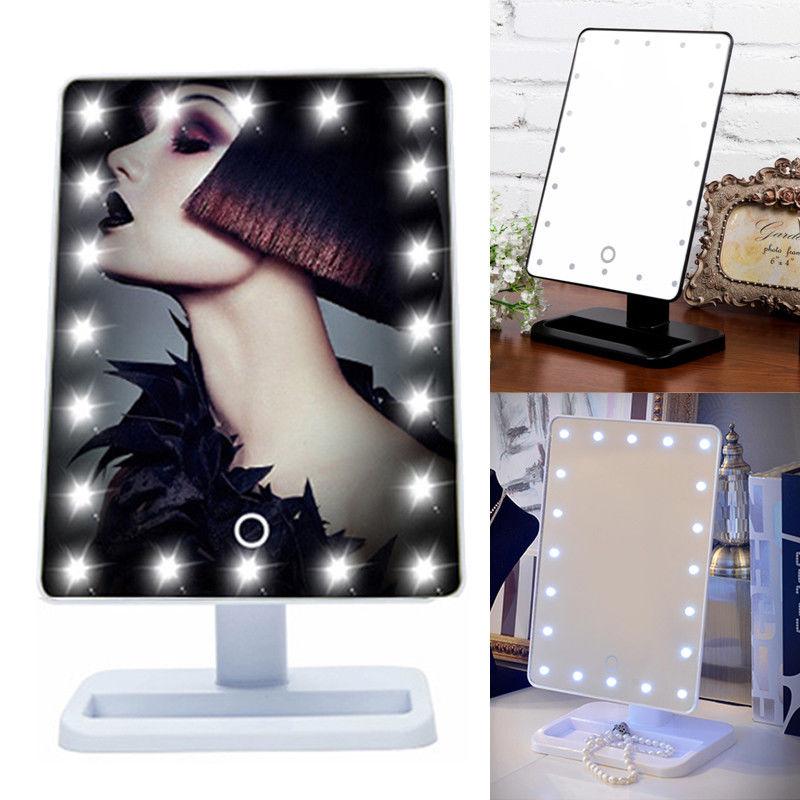 kosmetikspiegel 20 led mit beleuchtung standspiegel. Black Bedroom Furniture Sets. Home Design Ideas