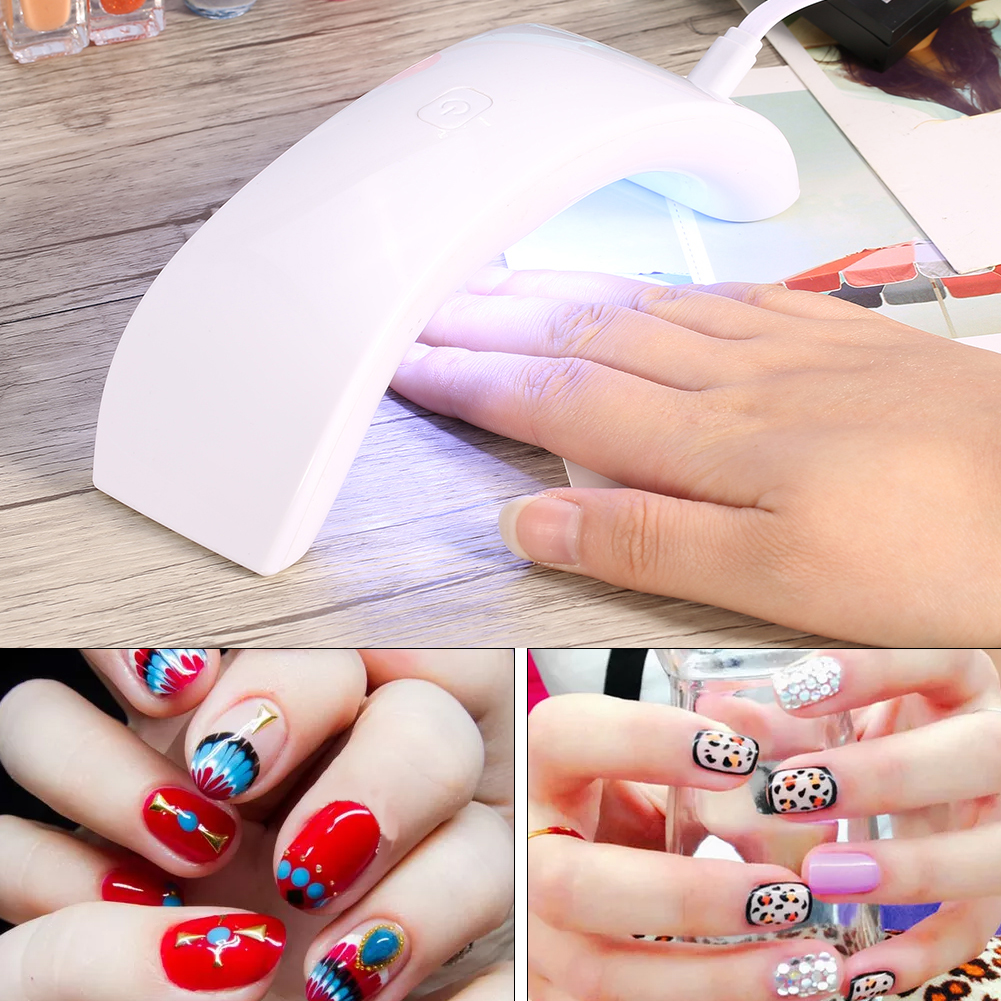 Mini Portable LED Nail Dryer Curing Lamp Machine for UV Gel Nail ...