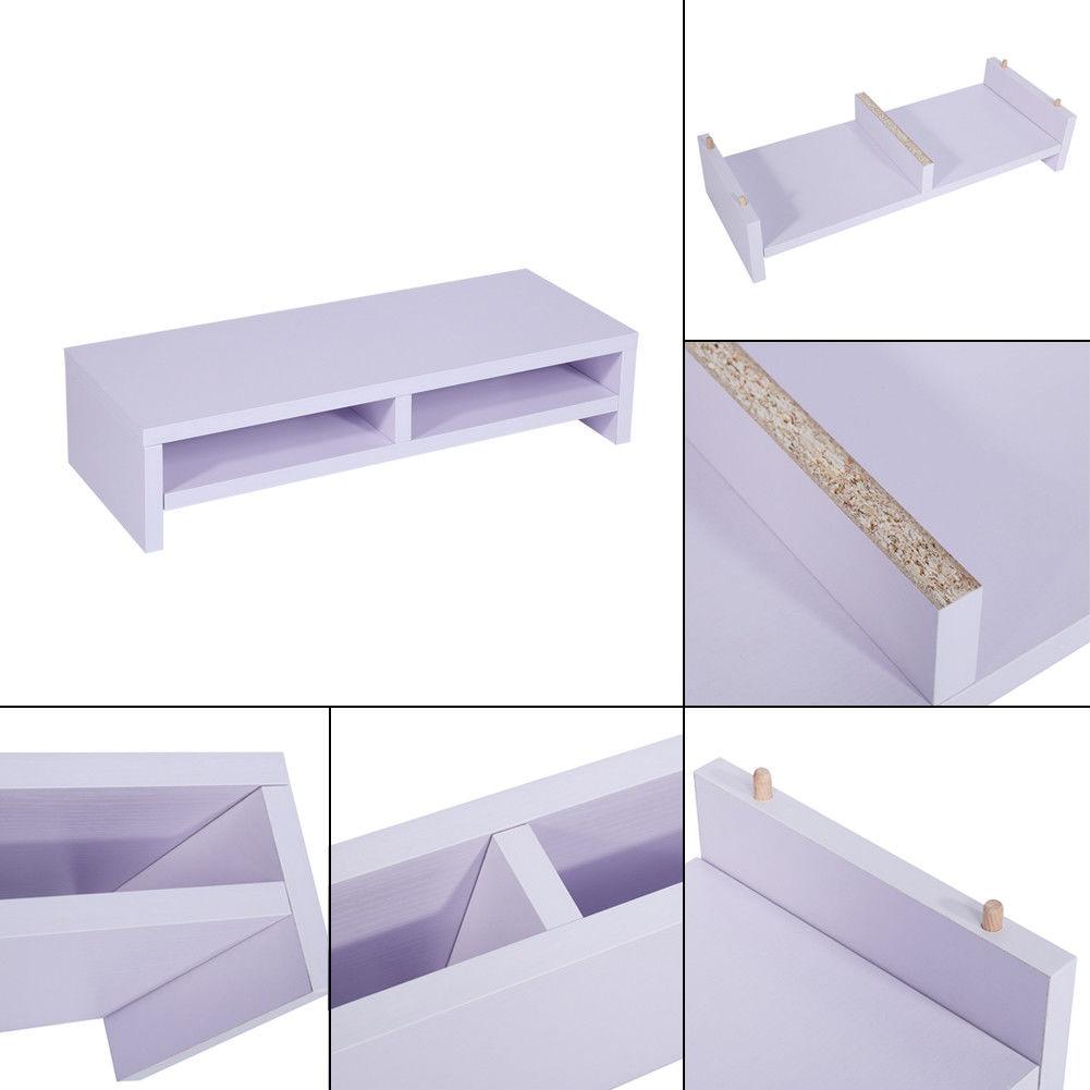 holz pc monitorerh hung bildschirm erh hung monitorst nder halterung dhl bg 0 aa ebay. Black Bedroom Furniture Sets. Home Design Ideas