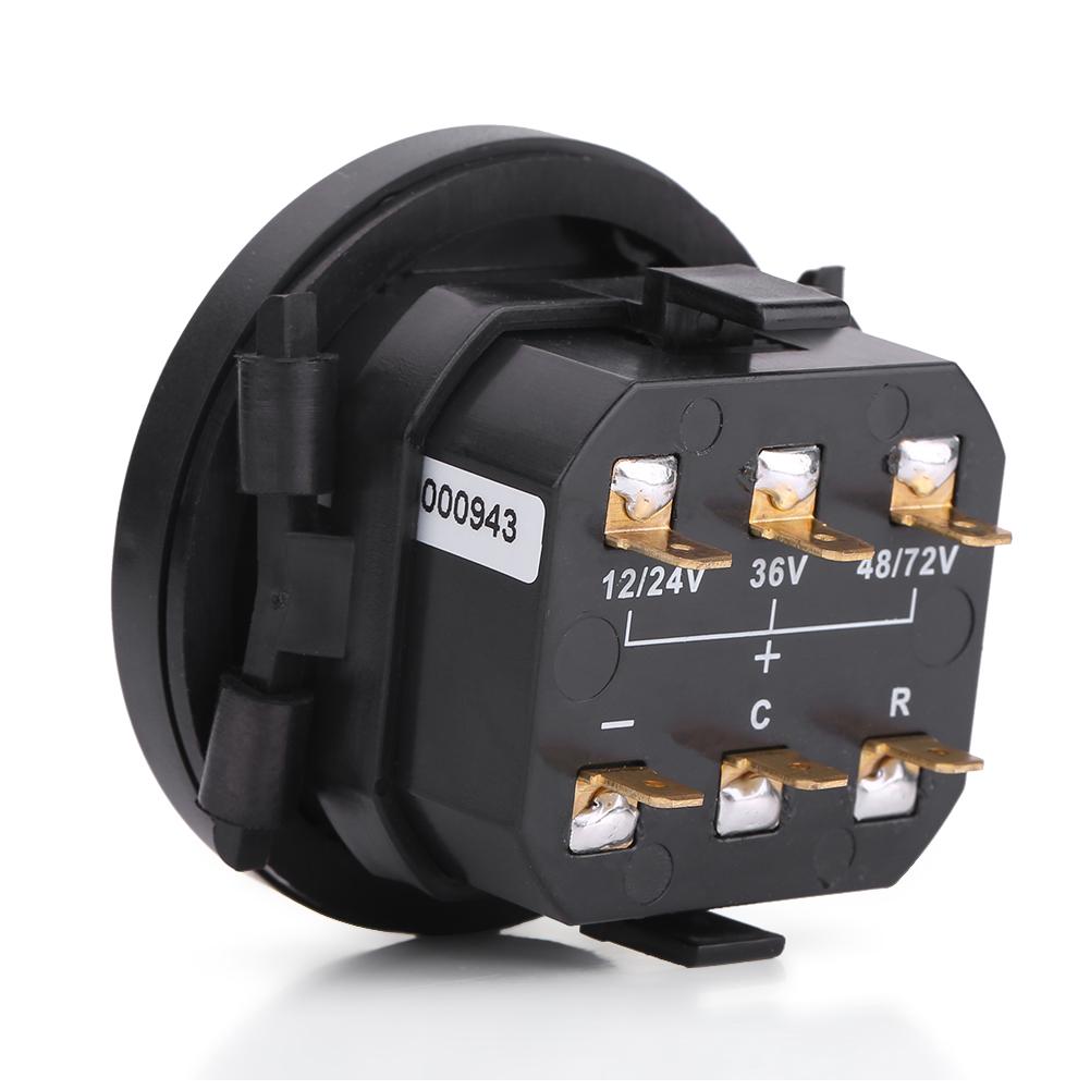 12v 24v 36v 48v 72v Digital Battery Indicator Hour Meter Set For Wiring Diagram Product Description