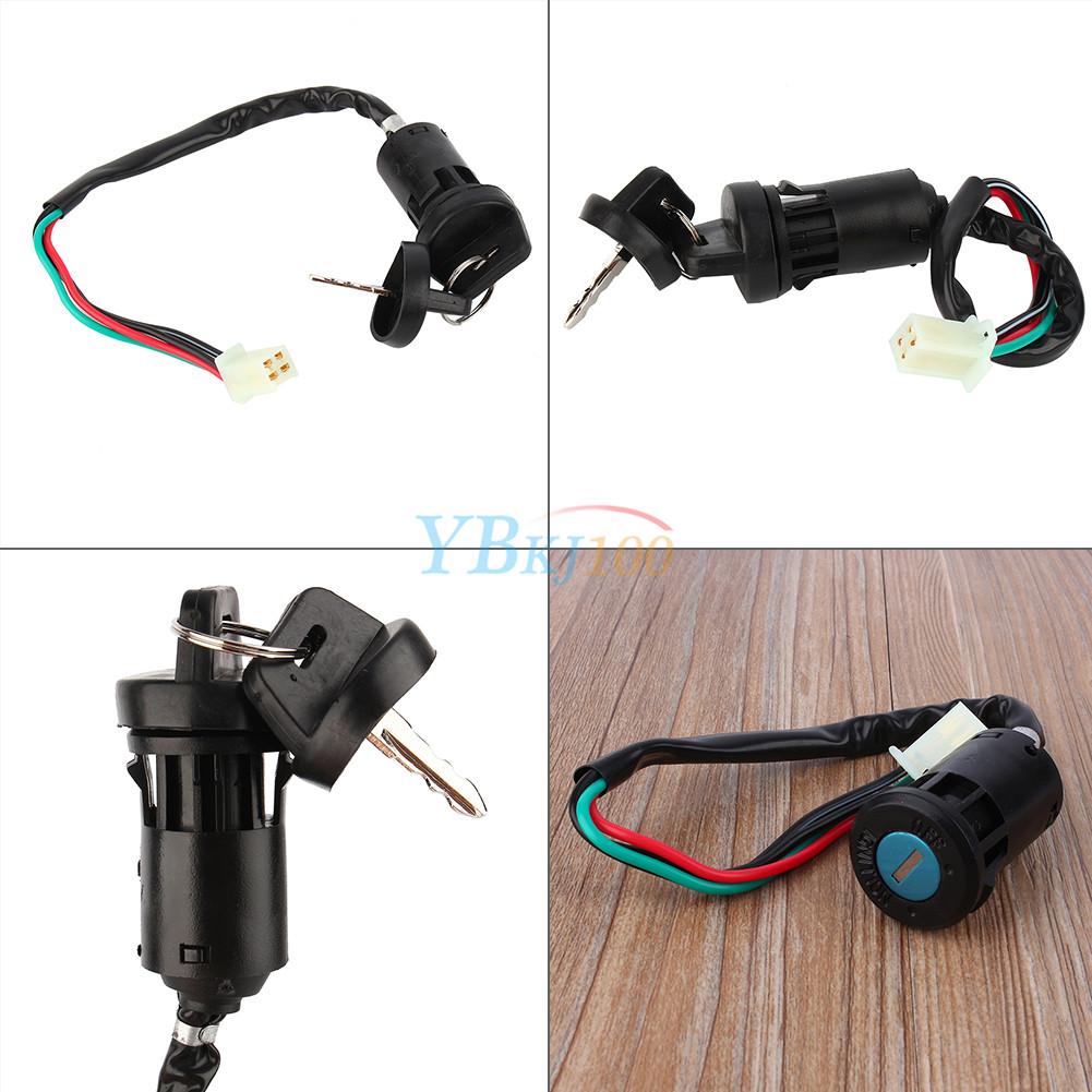 4 Wire Ignition Key Switch For 50 90 110 125cc Atv Go Kart Pit Dirt Four 1pc Quad Bike