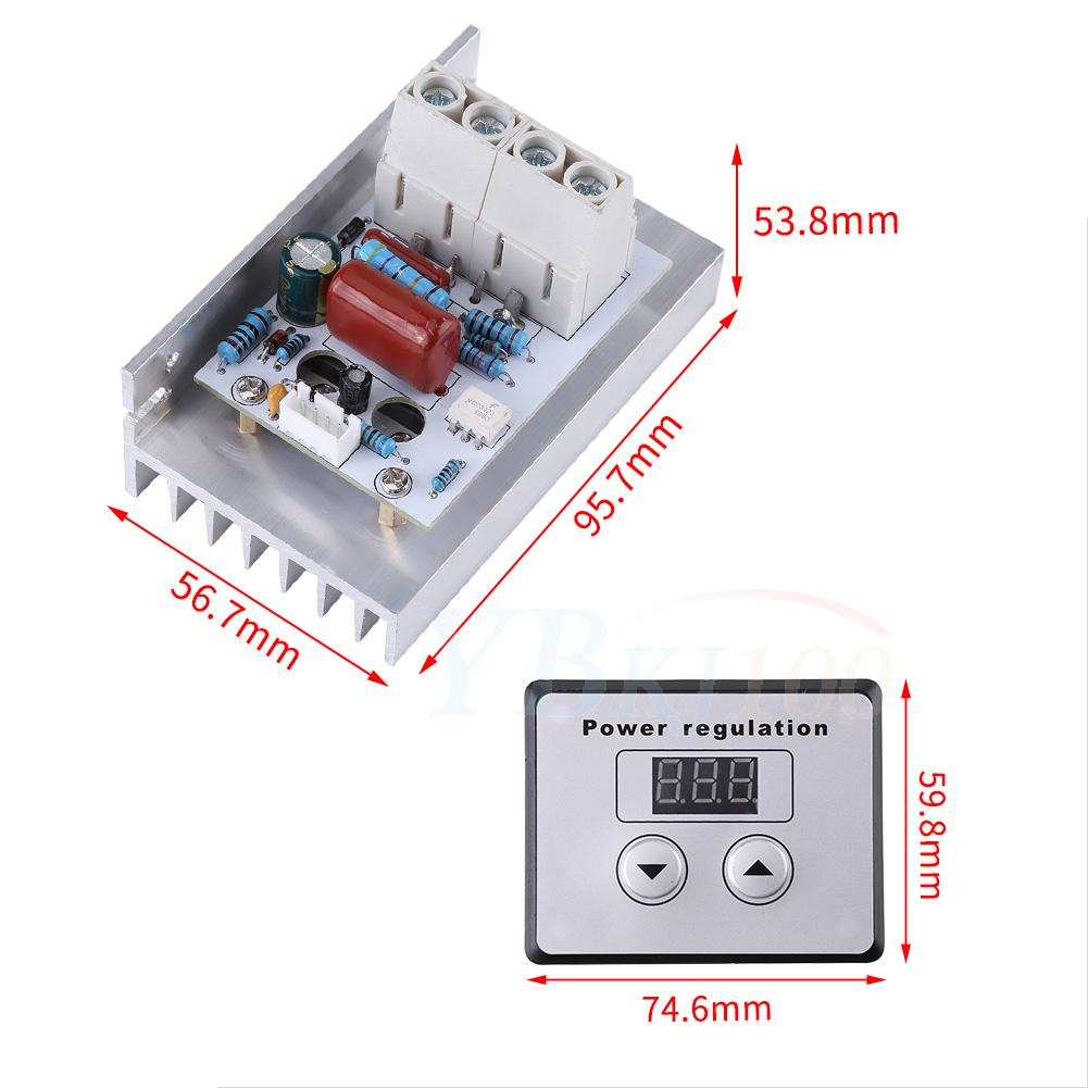 Electronic Regulator Ac220v 10000w High Power Scr Speed Controller Scrpowercontrollercircuitjpg Control Motor