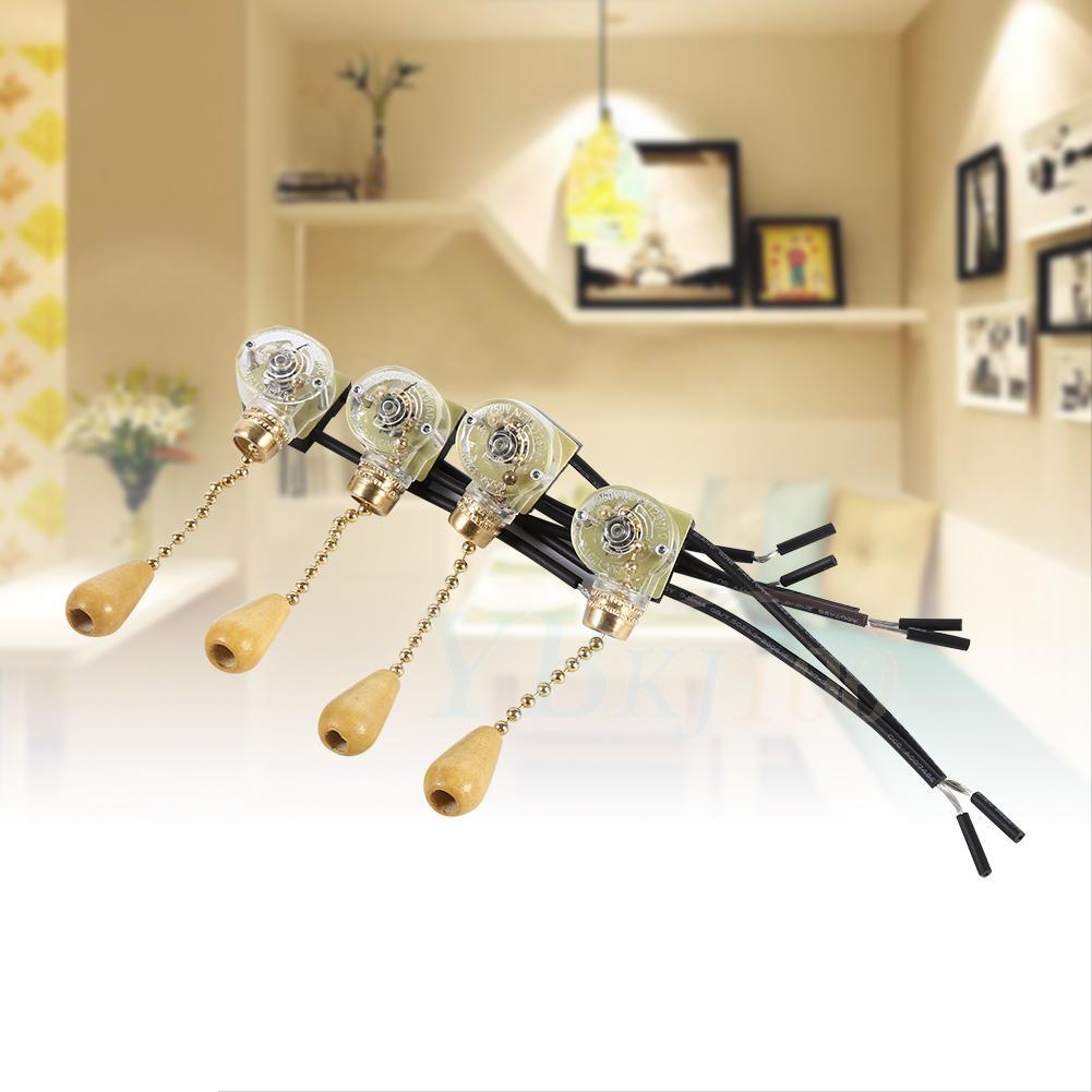 Universal 4x Ceiling Fan Lamp Wall Light Pull Chain Cord