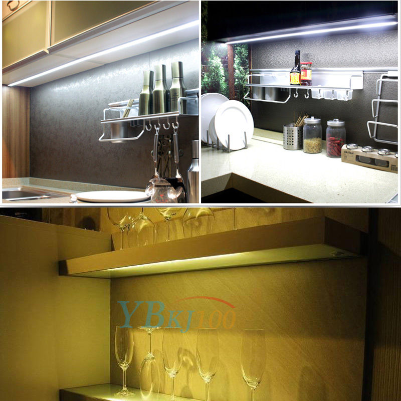 4Pcs Bar Kit Kitchen Night Light Under Cabinet Counter LED