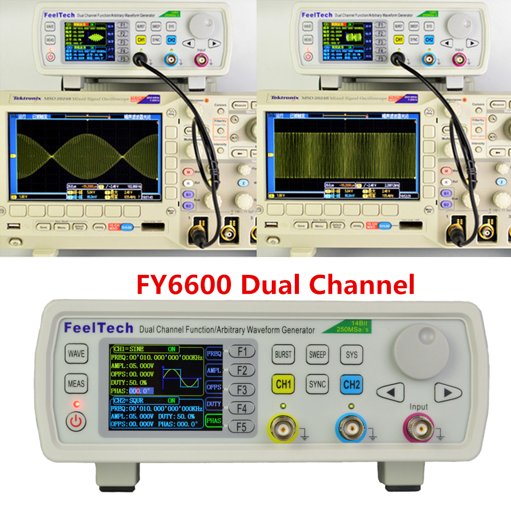 Feeltech Fy6600 15 60mhz Function Arbitrary Waveform Pulse Dds More Triangle Wave Generators Signal Hobby Circuits Generator
