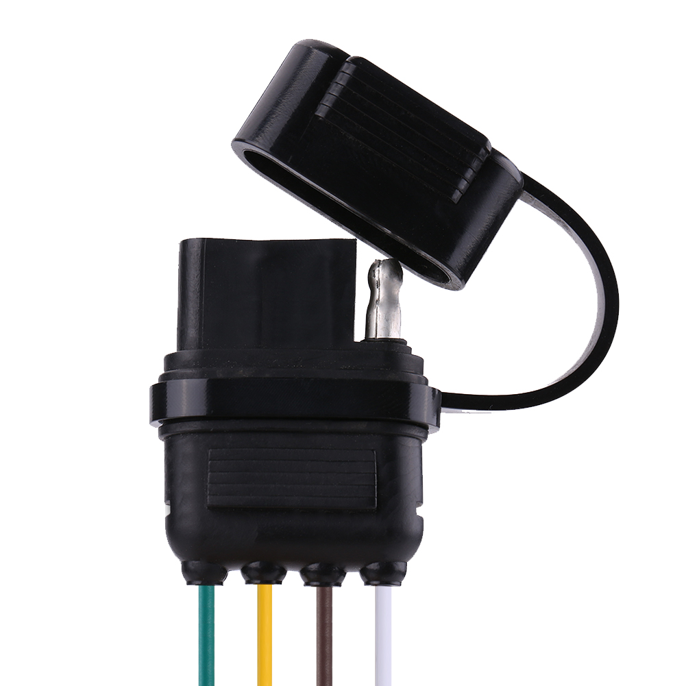 6  12  24v 4 Pin Flat Trailer Plug Light Adapter Wire Connector Caravan Auto Boat 9515381458629