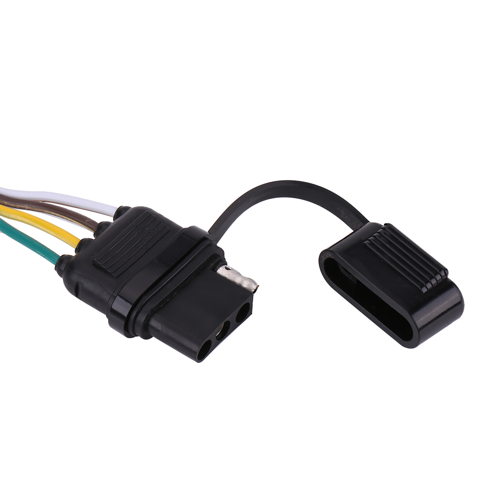 Details About 6 12 24v Trailer Wiring Harness Extension 4 Pin Plug Flat Wire Connector Adapter For
