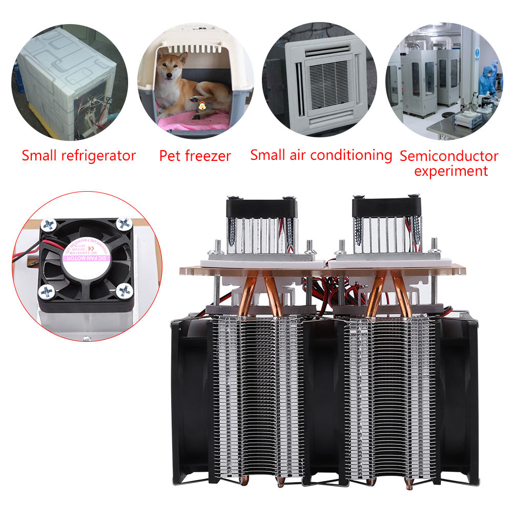 12v 144w Peltier Semiconductor Refrigeration Air Conditioner Fridge Electrical Engineering In And Conditioning Cooler Fan