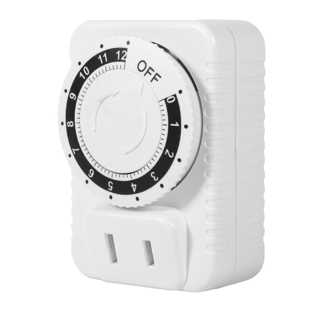 220v 12hr Abs Mechanical Countdown Timer Socket Outlet