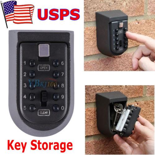 10 Digit Combination Hide Key Lock Box Storage Wall Mount