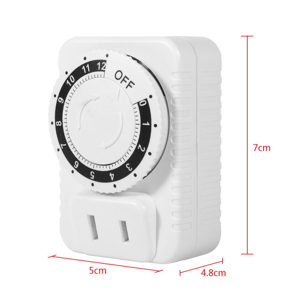 Details about 220V 12/24Hrs ABS Mechanical Countdown Timer Socket Outlet  Wall Plug Switch Knob