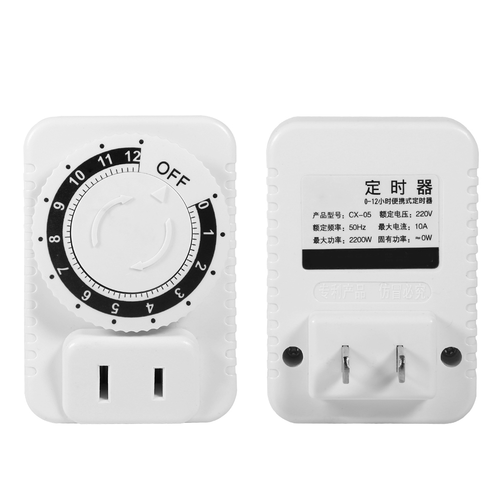220V 12 Hour Electrical Mechanical Wall Plug Switch Countdown Timer ...