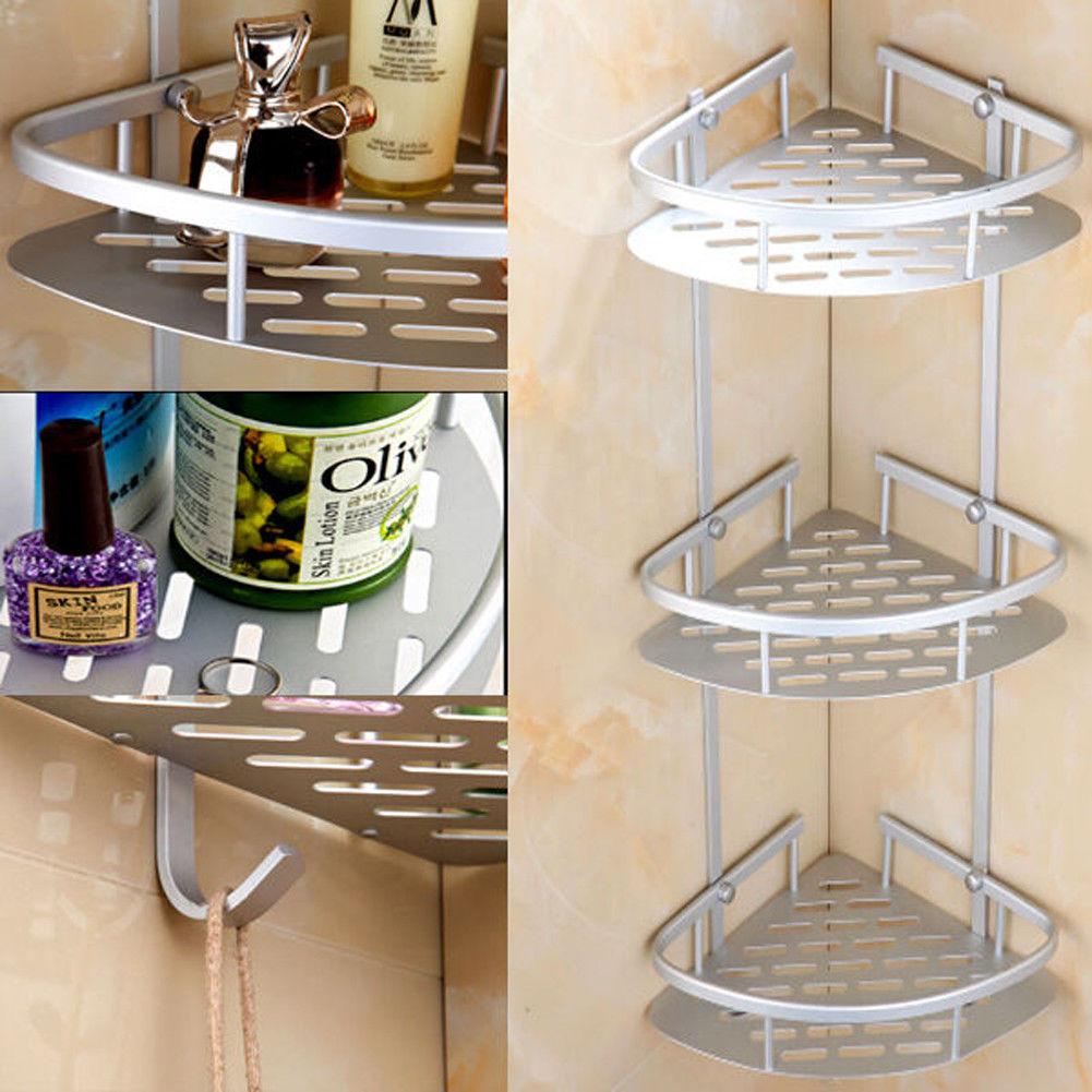 3 Layer Triangular Shower Shelf Bathroom Corner bath Rack Storage ...
