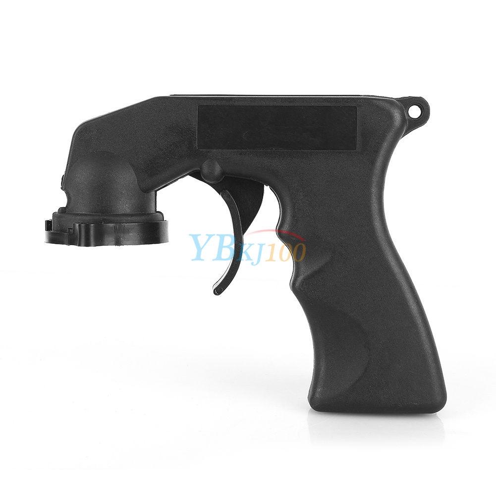 Black Auto Aerosol Spray Painting Can Gun Handle Full Grip