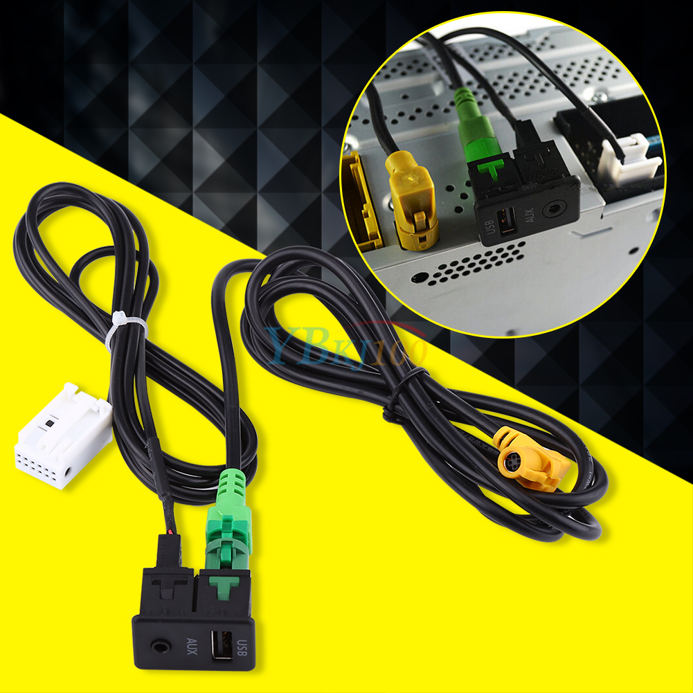 Usb aux switch socket cable interface for bmw e lci