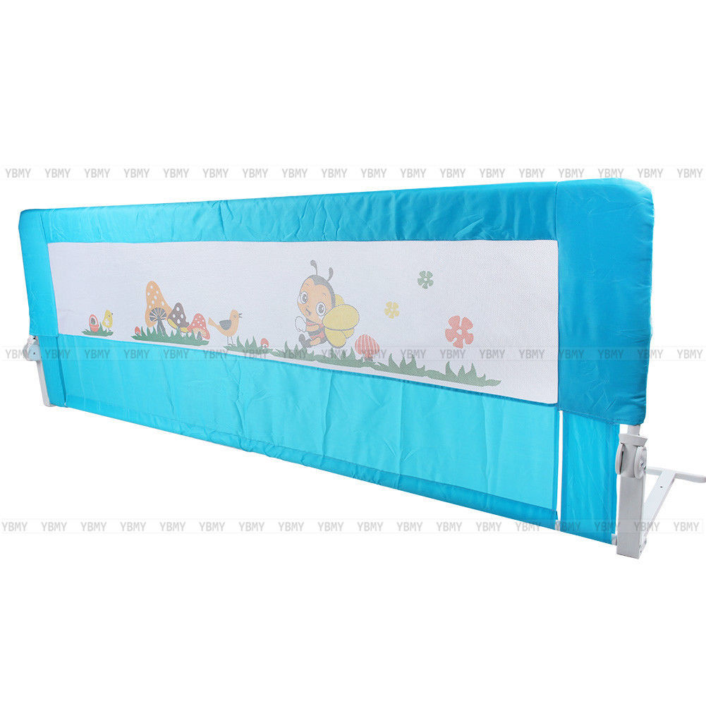 150 180cm Folding Child Toddler Bed Rail Safety Protection Guard Blue Pink New