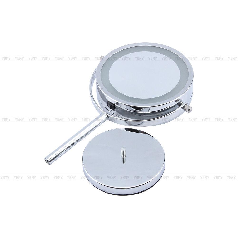 5 x magnifying round led illuminated bathroom make up cosmetic shaving mirror uk ebay for Magnifying bathroom mirror on stand