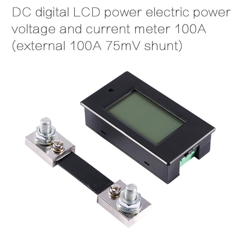 Dc 100a Lcd Voltage Current Kwh Watt Car Battery Panel Power Monitor 60v Rc Balance Meter Analyzer Combo