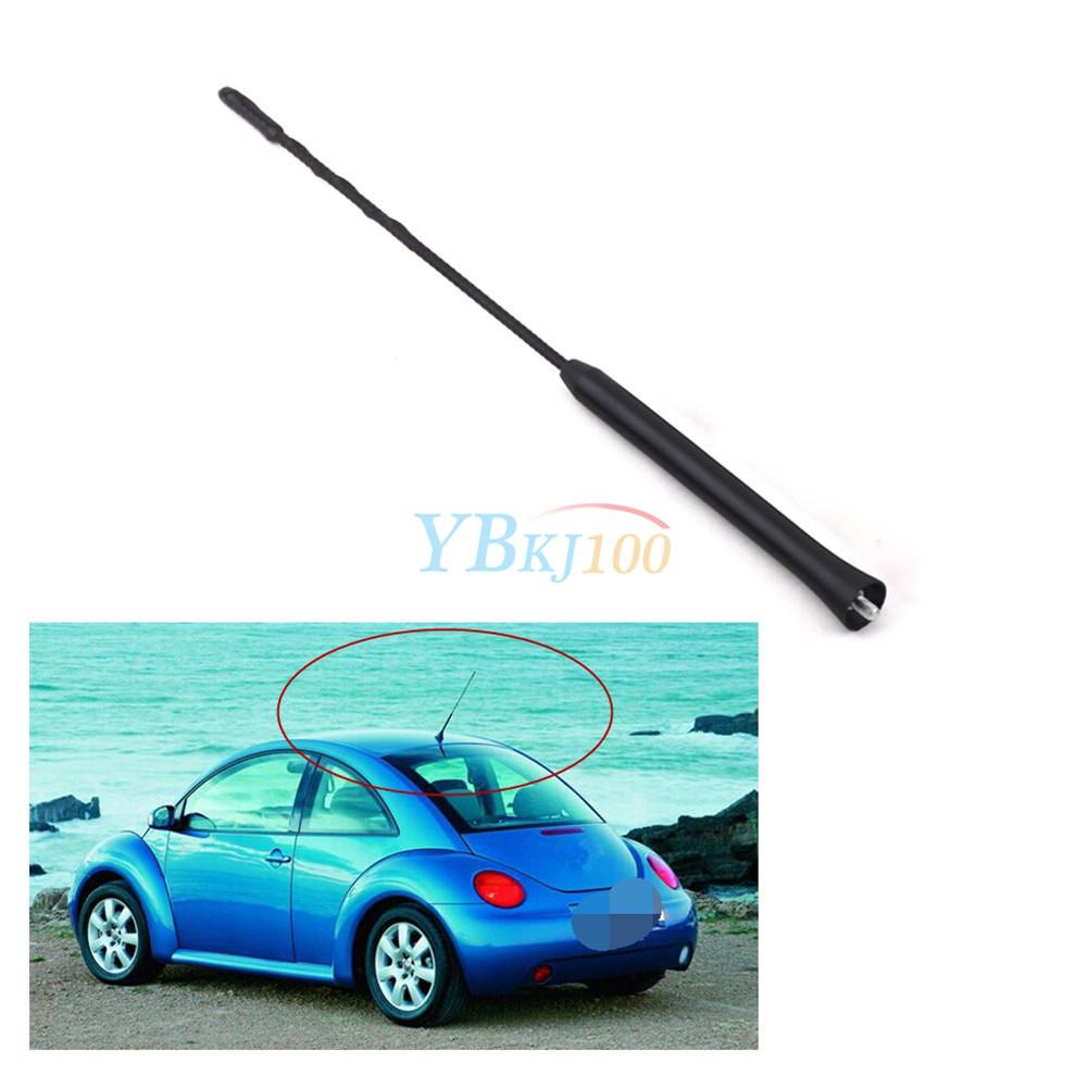 "11/"" Universal Auto Car Antenna Aerial AM FM Radio Amplified Roof Mast Black JS"