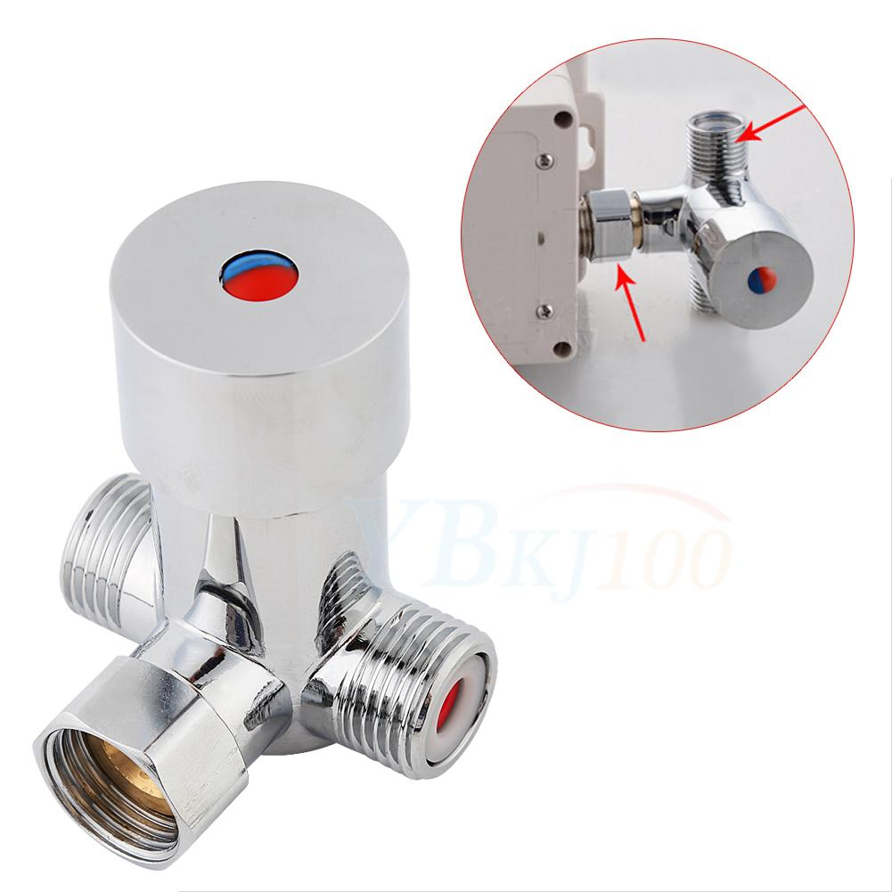 Freuer Faucets Temperature Mixing Valve For Touchless: Hot Cold Water Thermostatic Temperature Control Mixer