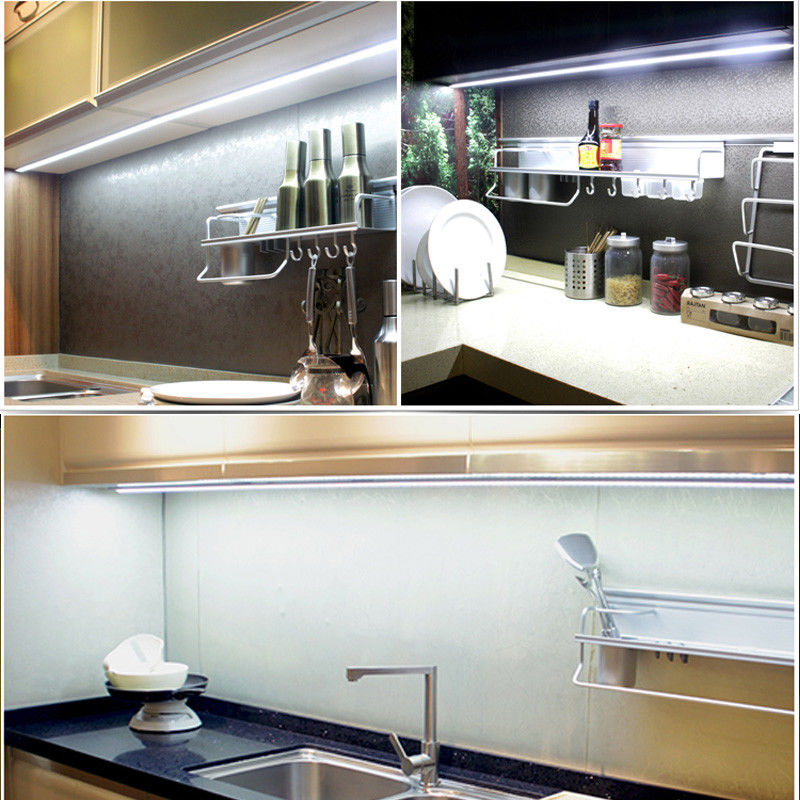 New 4Pcs Bar Kit Kitchen Night Light Under Cabinet Counter