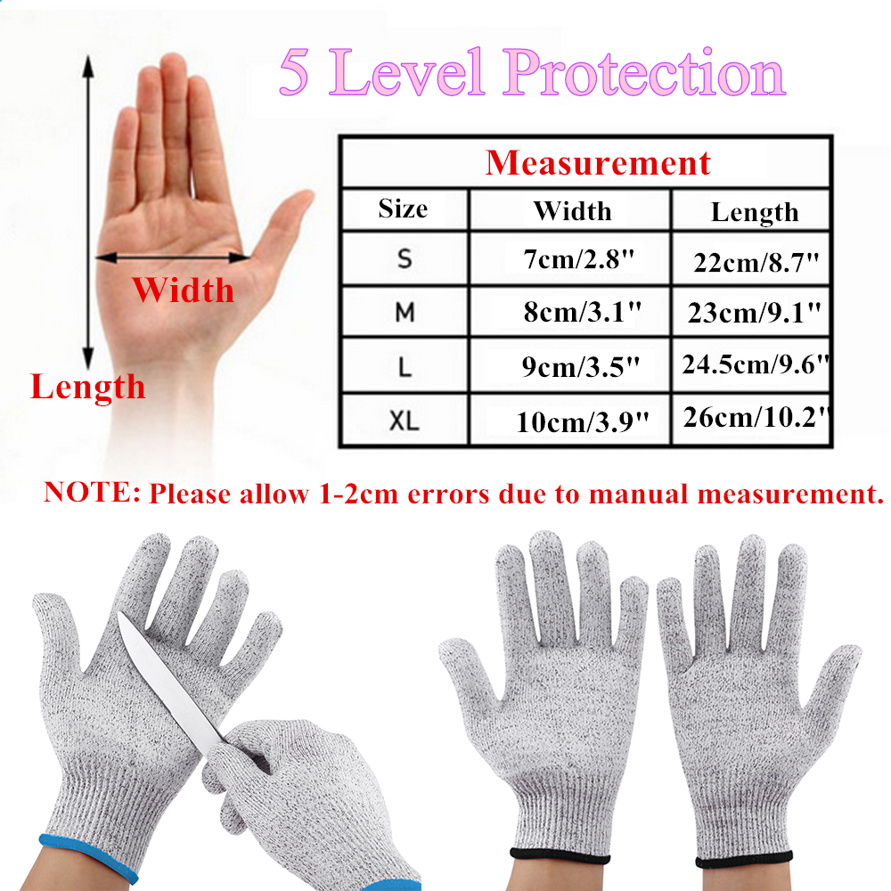 Cut Resistant Gloves Anti Cutting Food Grade Level 5
