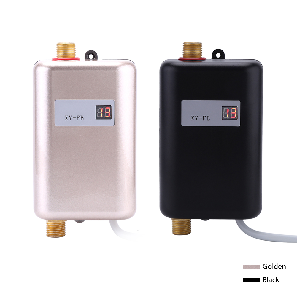 220v Lcd Electric Tankless Instant Hot Water Heater Bathroom Kitchen Washing Ebay