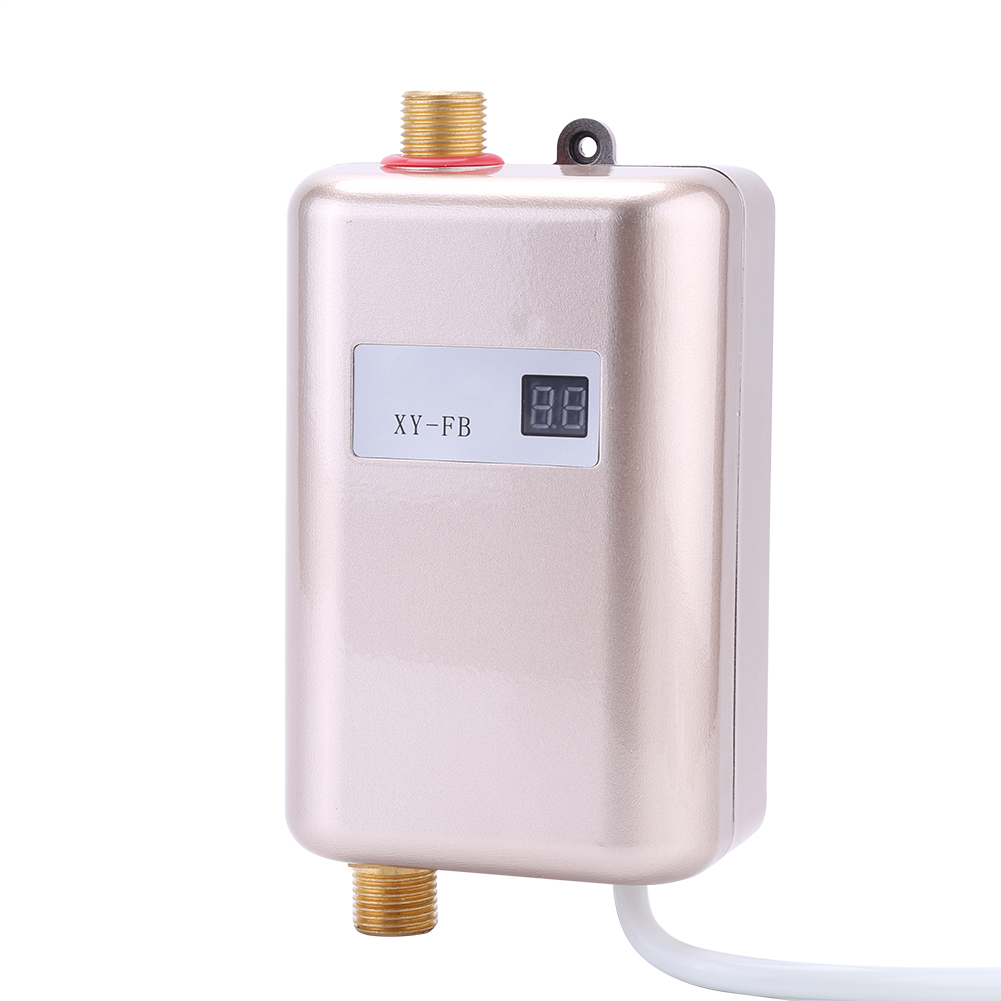220v lcd electric tankless instant hot water heater bathroom kitchen washing ebay. Black Bedroom Furniture Sets. Home Design Ideas
