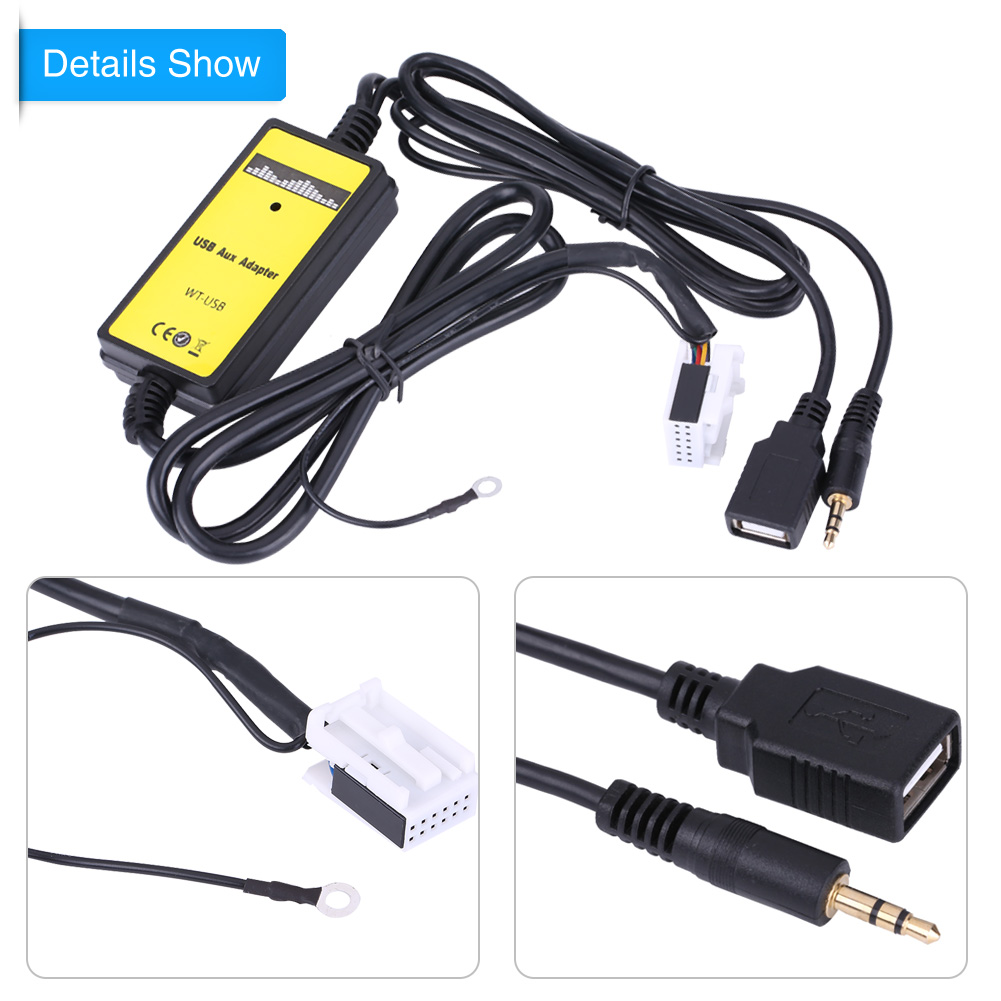 car usb aux in adapter audio mp3 player radio interface for audi a3 a4 s4 tt r8 953880013564 ebay. Black Bedroom Furniture Sets. Home Design Ideas