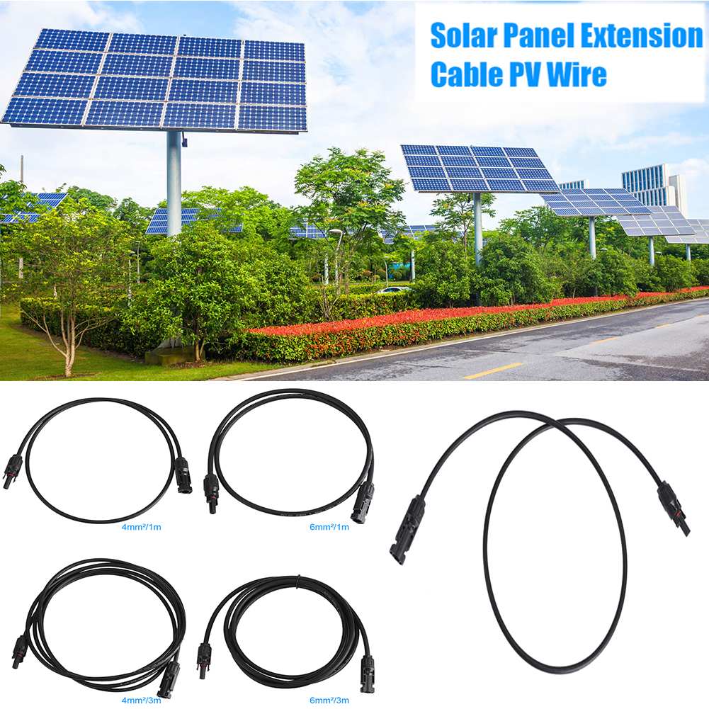3 10ft 30a Solar Panel Extension Cable Pv Wire With Male