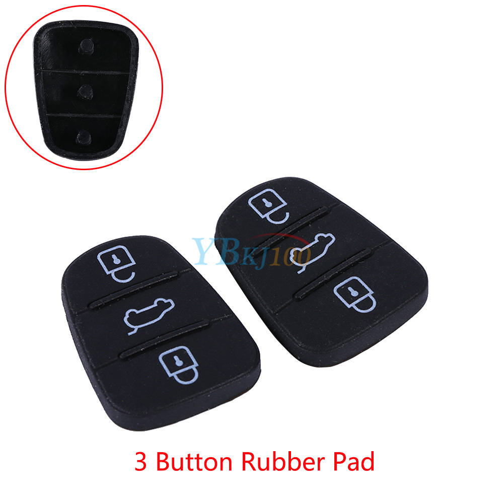 2pcs Car 3 Button Remote Key Fob Rubber Pad Replacement For Hyundai