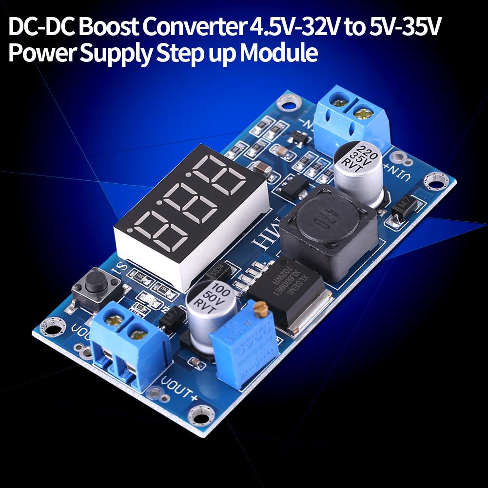 DC-DC Boost Step up Converter 5-32V 5V-55V 9V 12V 24V 48V Power Supply Module OB