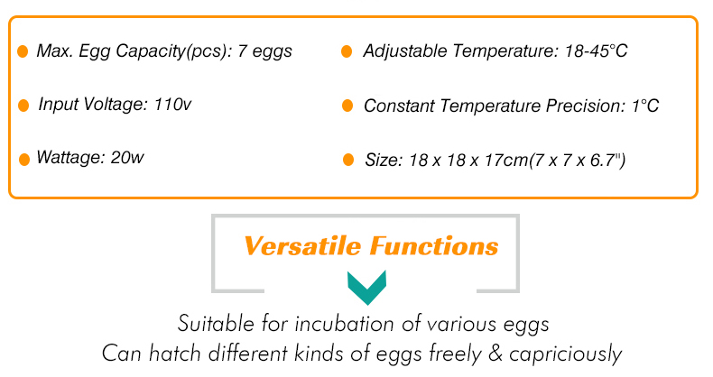 Details about 7 Eggs Incubator Digital Poultry Chicken Duck Hatcher  Temperature Control System