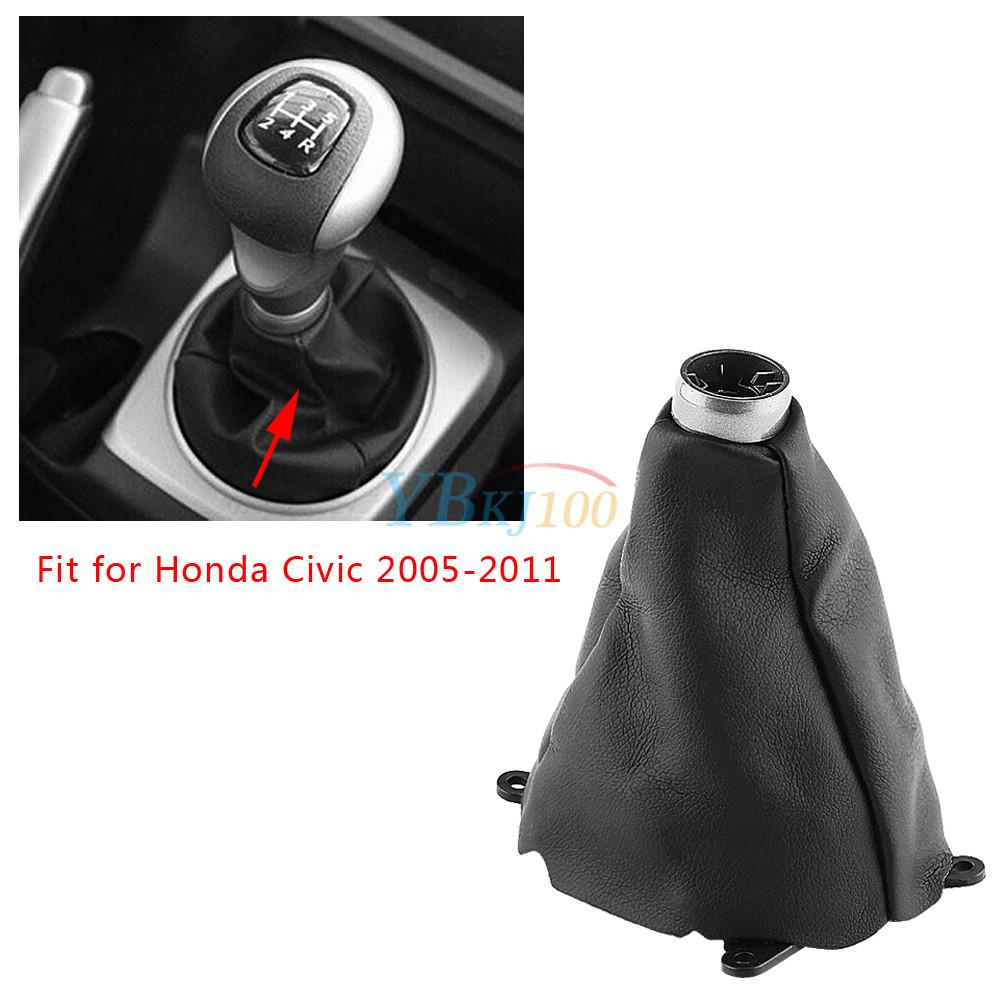 Black Car Manual Gear Shift Shifter Boot Dust Cover for Honda Civic  2005-2011