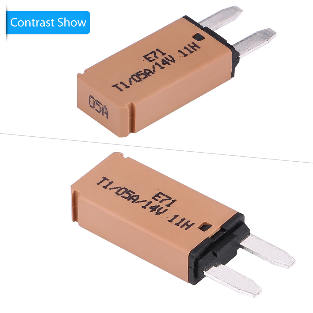 5a 14v Dc Automatic Reset Mini Circuit Breaker Blade Fuse For Auto Automotive Car Boat Tan