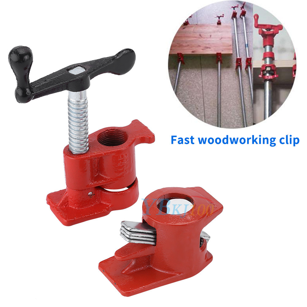 """details about heavy duty 3/4"""" h style gluing clamp gluing pipe clamp bar  woodworking glue wood"""