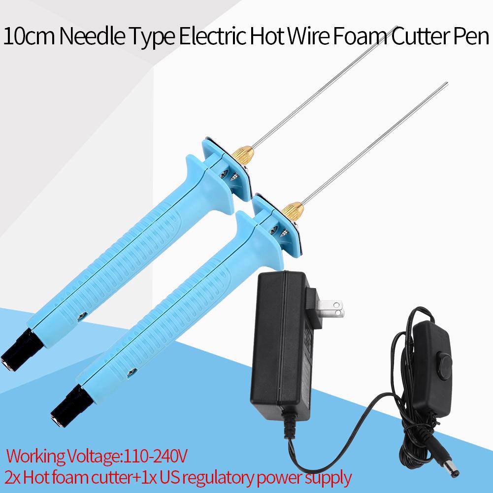 Electric Styrofoam Foam Cutter 2x 10cm Hot Wire Cutting Pen + ...