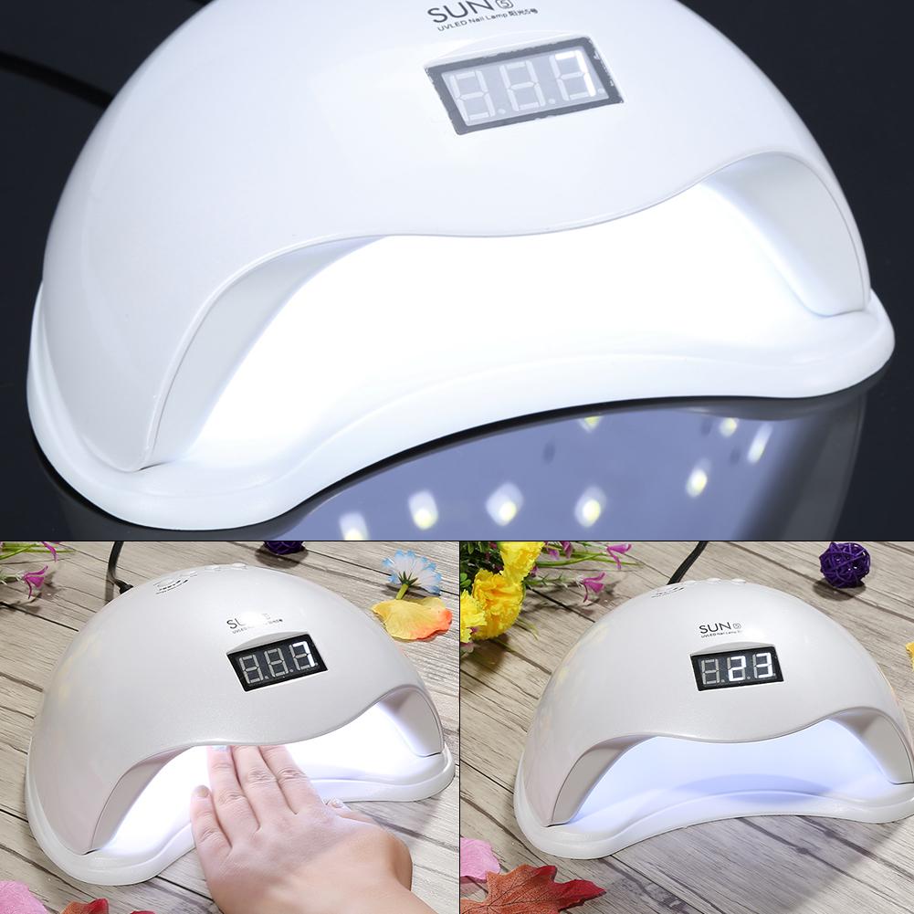 Nail Dryer Light: 48W SUN5 LED UV Nail Lamp Light Gel Polish Cure Nail Dryer