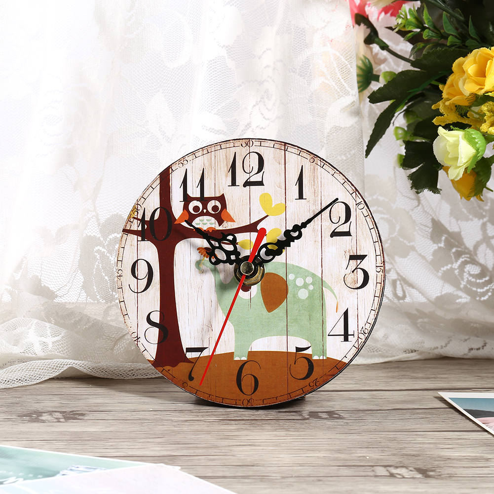 Shabby Chic Kitchen Accessories Uk: Vintage Rustic Wooden Wall Clock Kitchen Antique Shabby