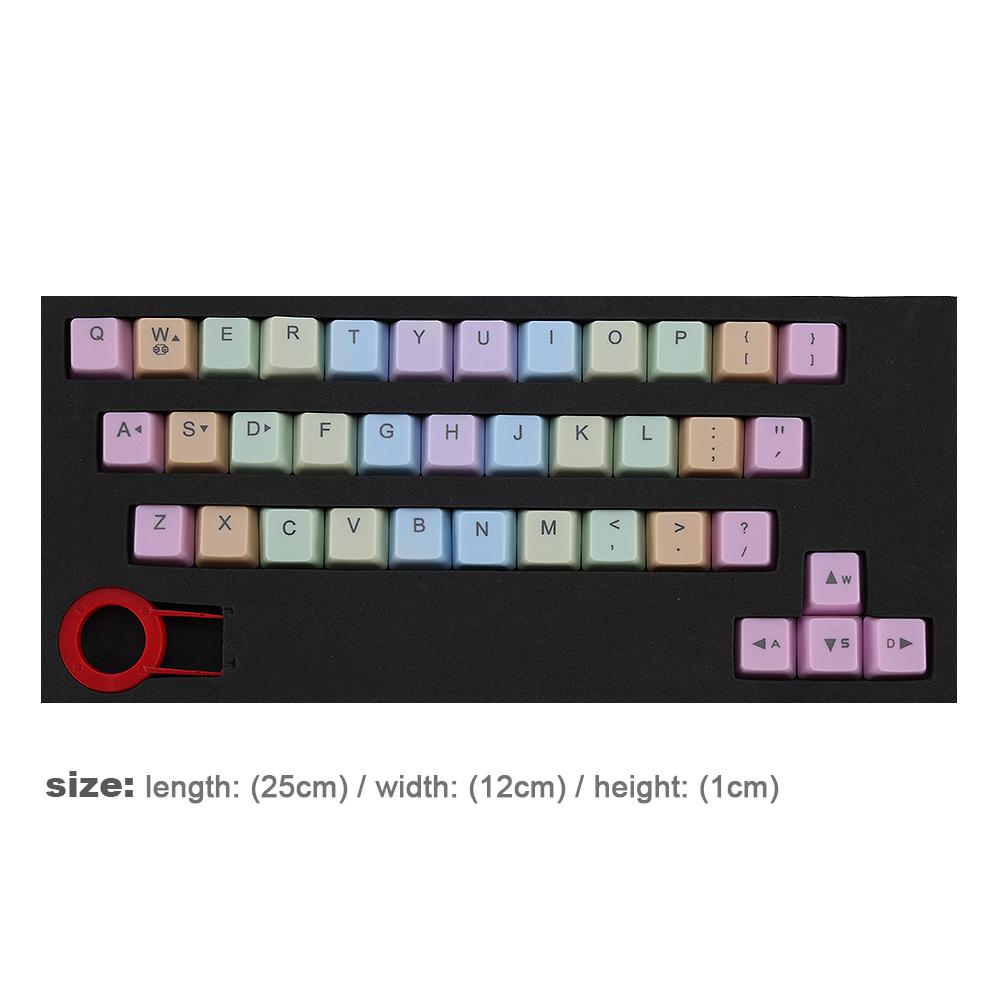 37 keys PBT Backlight Rainbow Keycap Puller for Cherry MX Mechanical Keyboard L