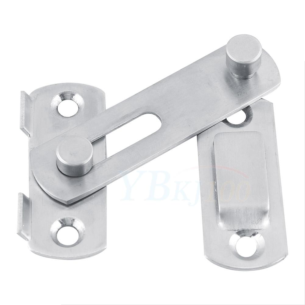 Slide Lock For Glass Door: Stainless Latch Lock Hasp Window Door Fitting Room Safety