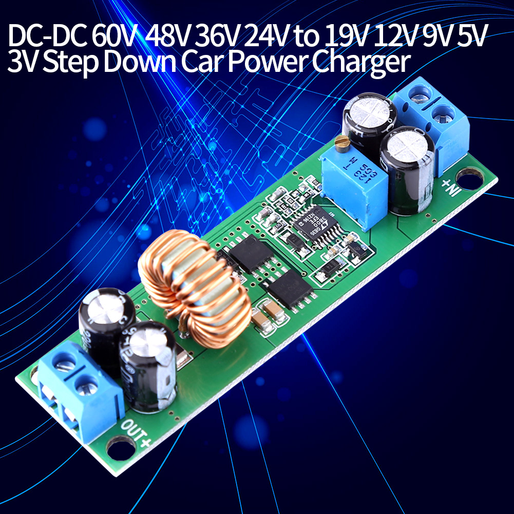 Buck Module DC-DC Buck Converter Adjustable Buck Converter Step Down Voltage Regulator Module DC 60V//48V//36V//24V to 19V//12V//9V//5V//3V