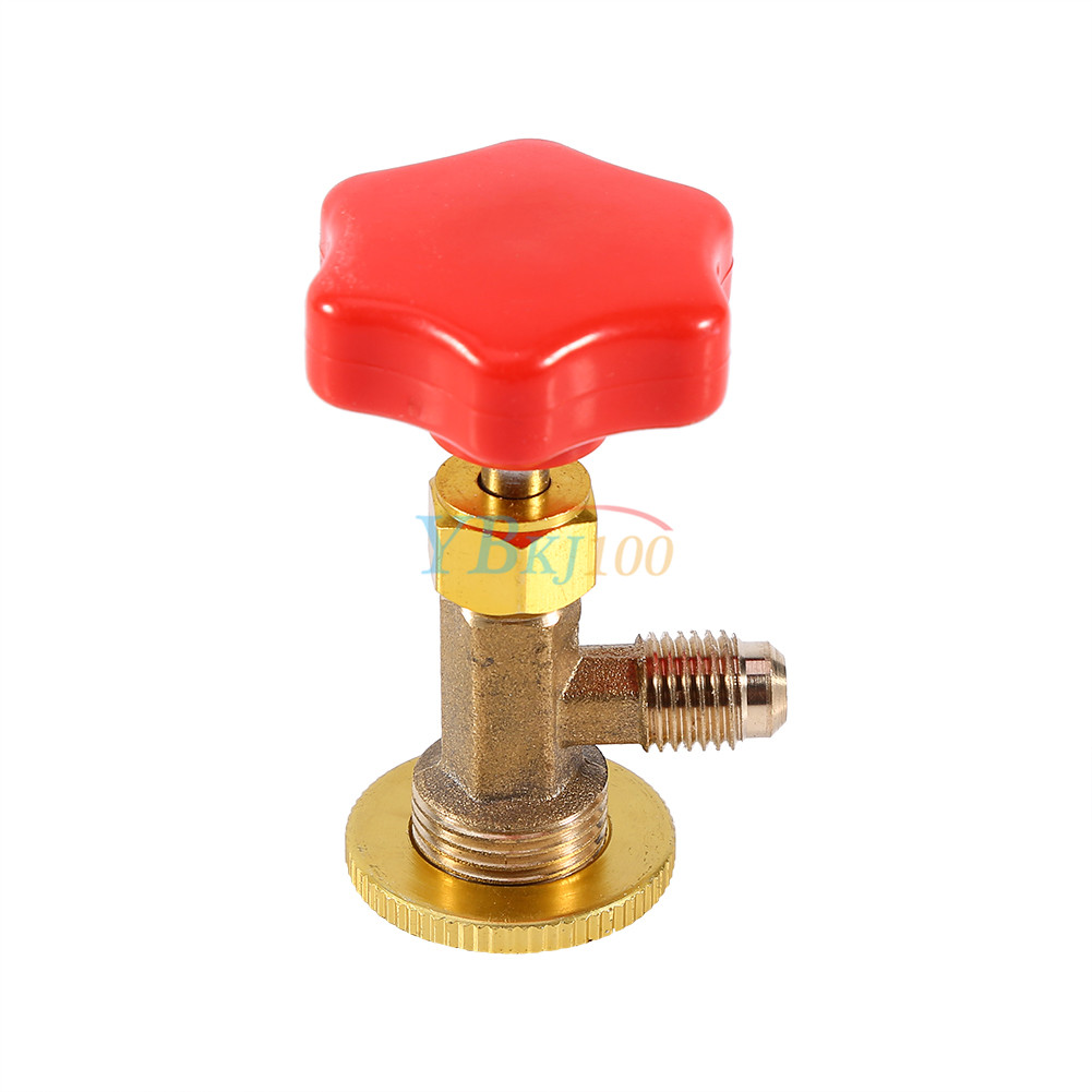 Car R134a Air Refrigerant AC Can Tap Valve Bottle Opener Tool with Red Cap STOG