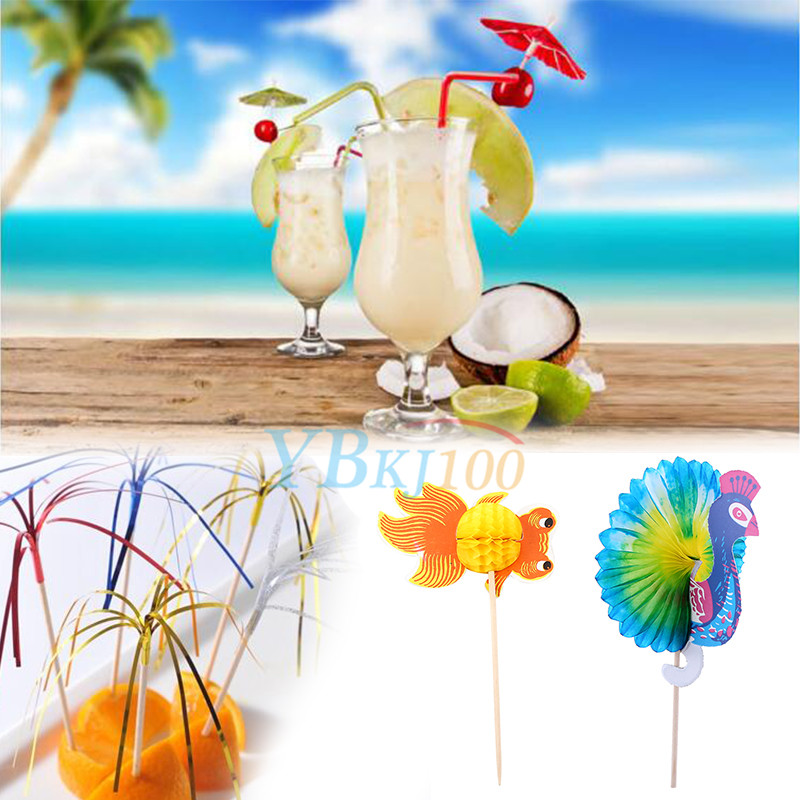 50pc cocktail sticks juice drink ice cream canape picks
